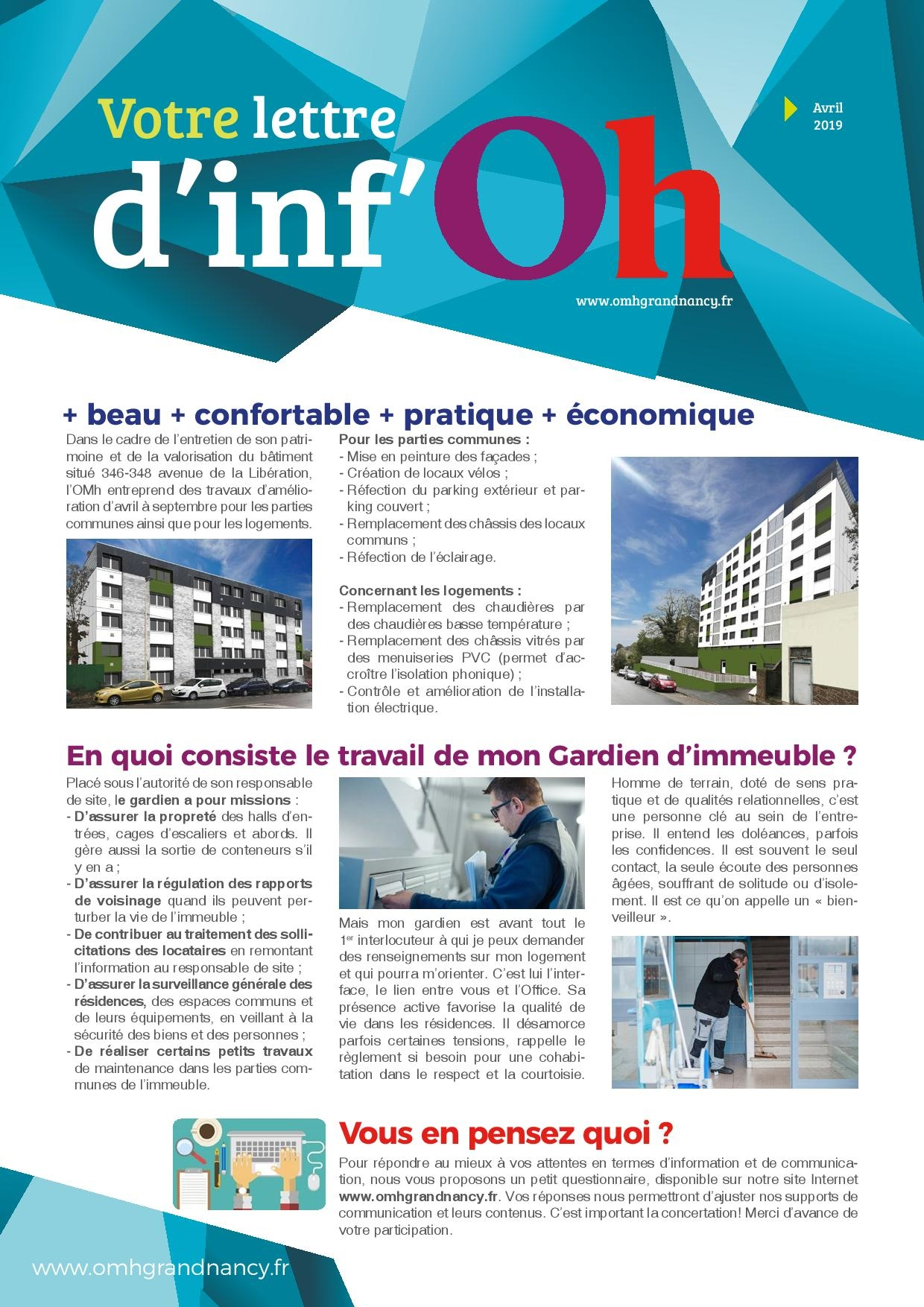 lettre infoh MAI 2019 page 001